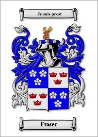 Fraser clan crest Scotland
