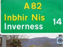 Scottish Road Sign inverness gaelic